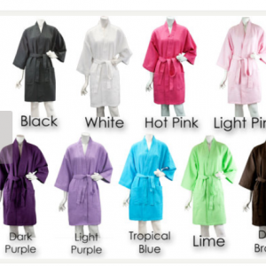 Personalized set of 11 Bridal Robes..